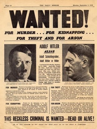 The-Daily-Mirror-publico-un-cartel-de-Hitler-de-Se-busca-vivo-o-muerto-British-Library