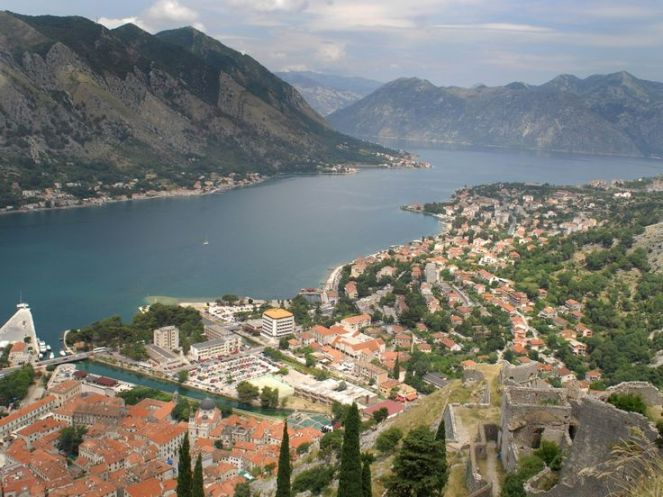 A general view of Kotor, in the Tivat region of Montenegro.