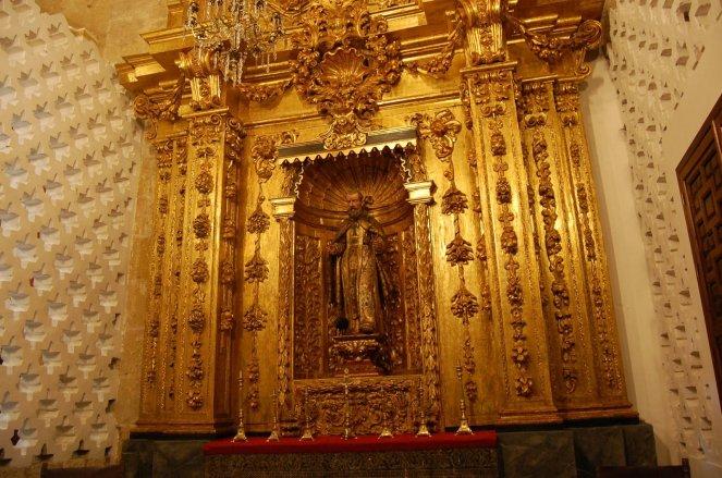 San Antonio Chapel -- note Arabic patterns on each side