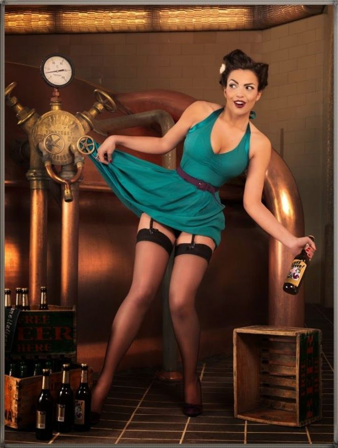 serie PIN UP beer and biliards